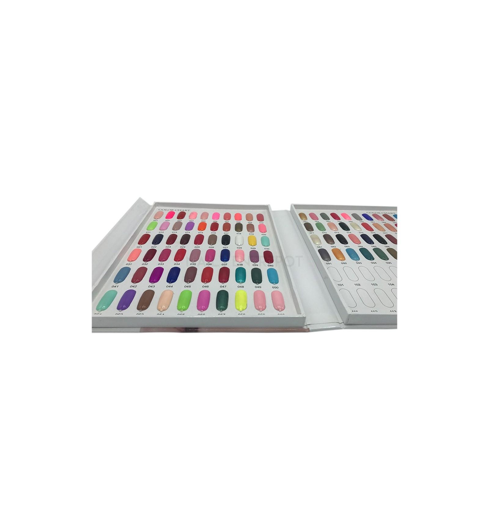 Nuancier Color Chart Nails Entrepot